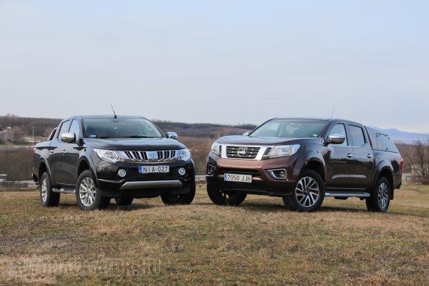Teszt Nissan Navara vs. Mitsubishi L200