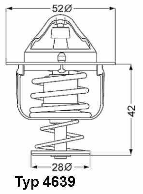 Ford Ranger 2.5 TD Termosztát