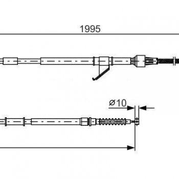 Mitsubishi L200 K74T Kézifékkötél (jobb)